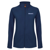 Ladies Fleece Full Zip Navy Jacket-Gauchos with Hat