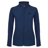 Ladies Fleece Full Zip Navy Jacket-Primary