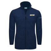 Columbia Full Zip Navy Fleece Jacket-UCSB