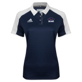 Ladies Adidas Modern Navy Varsity Polo-Primary