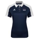 Ladies Adidas Modern Navy Varsity Polo-Primary