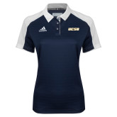 Ladies Adidas Modern Navy Varsity Polo-UCSB