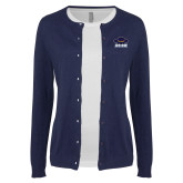 Ladies Navy Cardigan-Primary