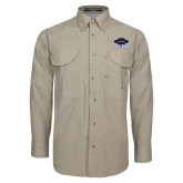 Khaki Long Sleeve Performance Fishing Shirt-Primary