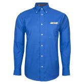 Mens Royal Oxford Long Sleeve Shirt-UCSB
