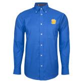 Mens Royal Oxford Long Sleeve Shirt-Interlocking SB