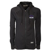 Ladies Under Armour Black Varsity Full Zip Hoodie-Primary
