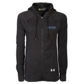 Ladies Under Armour Black Varsity Full Zip Hoodie-UCSB