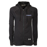 Ladies Under Armour Black Varsity Full Zip Hoodie-Gauchos with Hat