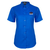 Ladies Royal Twill Button Up Short Sleeve-Primary
