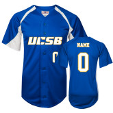 Replica Royal Adult Baseball Jersey-Personalized Women's Softball