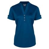 Ladies Ogio Indigo Blue Fashion Henley-Primary