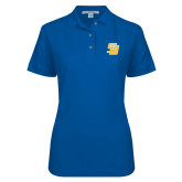 Ladies Easycare Royal Pique Polo-Interlocking SB