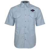 Light Blue Short Sleeve Performance Fishing Shirt-Primary