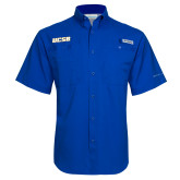 Columbia Tamiami Performance Royal Short Sleeve Shirt-UCSB