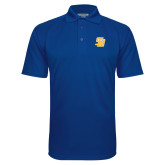Royal Textured Saddle Shoulder Polo-Interlocking SB