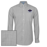 Mens Charcoal Plaid Pattern Long Sleeve Shirt-Primary