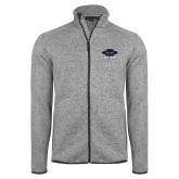 Grey Heather Fleece Jacket-Primary
