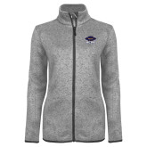 Grey Heather Ladies Fleece Jacket-Primary