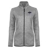 Grey Heather Ladies Fleece Jacket-Primary