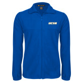Fleece Full Zip Royal Jacket-UCSB