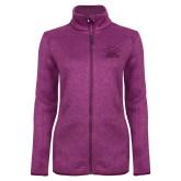 Dark Pink Heather Ladies Fleece Jacket-Primary