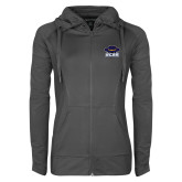 Ladies Sport Wick Stretch Full Zip Charcoal Jacket-Primary