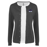 Ladies Charcoal Cardigan-Primary