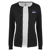 Ladies Black Cardigan-Primary