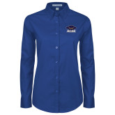 Ladies Royal Twill Button Down Long Sleeve-Primary