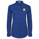Ladies Royal Twill Button Down Long Sleeve-Interlocking SB
