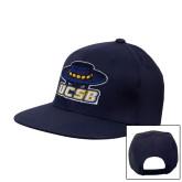 Navy Flat Bill Snapback Hat-Primary