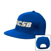Royal Flat Bill Snapback Hat-UCSB
