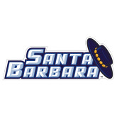 Extra Large Magnet-Santa Barbara with Hat, 18 in. wide