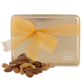 Deluxe Nut Medley Gold Large Tin-Primary Engraved