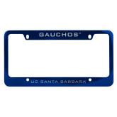 Metal Blue License Plate Frame-Gauchos
