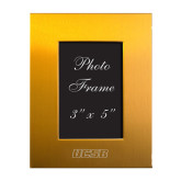 Gold Brushed Aluminum 3 x 5 Photo Frame-UCSB Engraved, Personalized