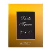 Gold Brushed Aluminum 3 x 5 Photo Frame-UCSB Engraved, Personalized