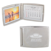 Silver Bifold Frame w/Calendar-Primary Engraved