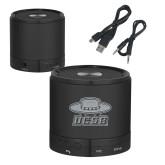 Wireless HD Bluetooth Black Round Speaker-Primary Engraved
