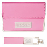 Business Card Case and Key Ring Set Pink-UCSB Engraved