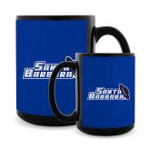 Full Color Black Mug 15oz-Santa Barbara with Hat
