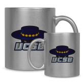 11oz Silver Metallic Ceramic Mug-Primary
