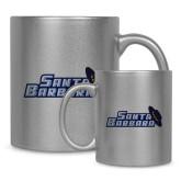Full Color Silver Metallic Mug 11oz-Santa Barbara with Hat