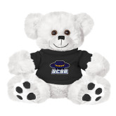 Plush Big Paw 8 1/2 inch White Bear w/Black Shirt-Primary