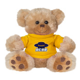 Plush Big Paw 8 1/2 inch Brown Bear w/Gold Shirt-Primary