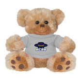 Plush Big Paw 8 1/2 inch Brown Bear w/Grey Shirt-Primary
