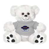 Plush Big Paw 8 1/2 inch White Bear w/Grey Shirt-Primary