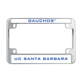 Metal Motorcycle License Plate Frame in Chrome-Gauchos