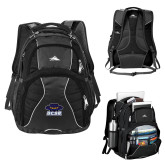 High Sierra Swerve Black Compu Backpack-Primary